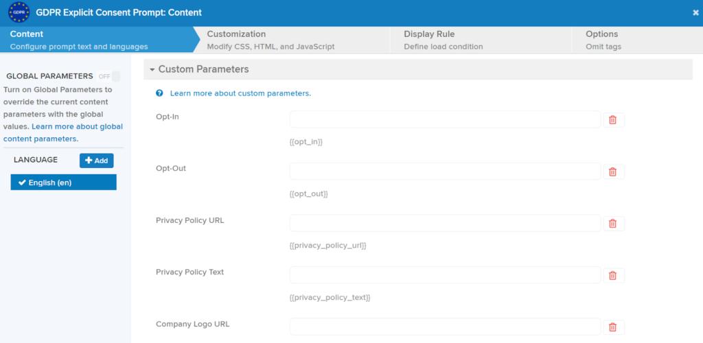 A consent management platform simplifies customization of the User Form